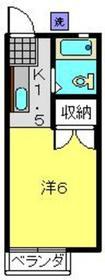 市川ハイツ2階Fの間取り画像