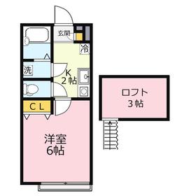 ブリーズフォーレ2階Fの間取り画像