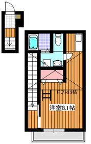 ゼファーコート丸山台22階Fの間取り画像