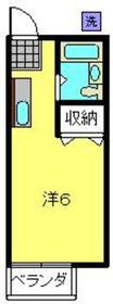 アパートメントハウスELM2階Fの間取り画像
