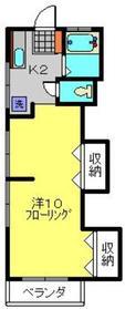 志村アパート1階Fの間取り画像
