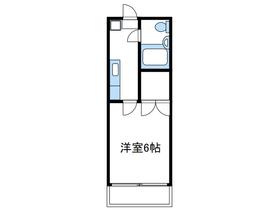 第10明智ビル2階Fの間取り画像