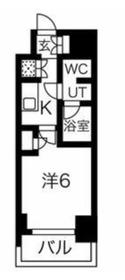 スパシエ川崎エセンザ12階Fの間取り画像
