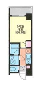 マークス横浜橋通り11階Fの間取り画像