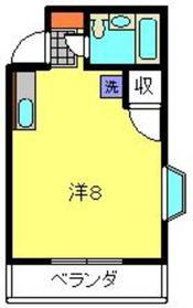 第5野本アパート2階Fの間取り画像