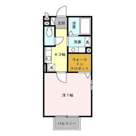 シルヴァンブリーズ2階Fの間取り画像
