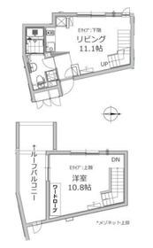 アレーロ江戸川橋4階Fの間取り画像