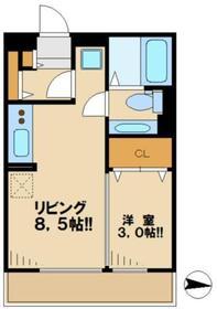 クレセントコートkay3階Fの間取り画像