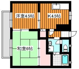 ツェーン和光1階Fの間取り画像