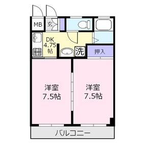 グリーン鶴ケ舞2階Fの間取り画像
