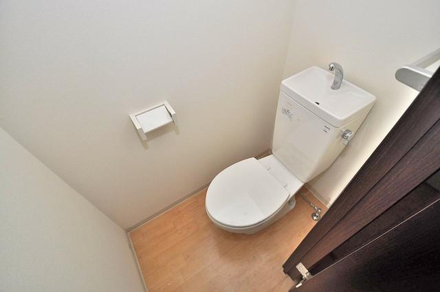 GRACE COURTⅡ 清潔感のある爽やかなトイレ。誰もがリラックスできる空間です。