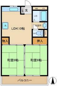 久米マンション2階Fの間取り画像