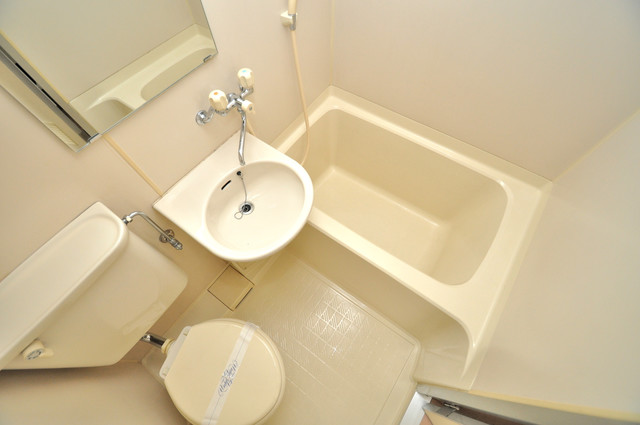 アペックスハイツ・ユニ シャワー一つで水回りが掃除できて楽チンです