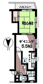 吉野町駅 徒歩15分2階Fの間取り画像