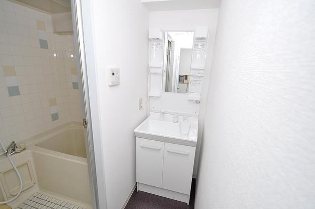 OMレジデンス八戸ノ里 忙しい朝にあなたを手助けしてくれる素敵な洗面台。
