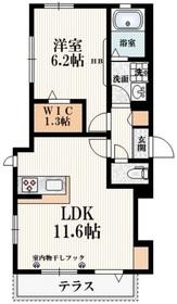 (仮称)須賀町3丁目メゾン1階Fの間取り画像