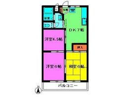 ハイゴールドマンション3階Fの間取り画像