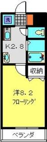 日吉駅 徒歩18分2階Fの間取り画像