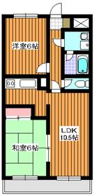 成増駅 徒歩32分3階Fの間取り画像