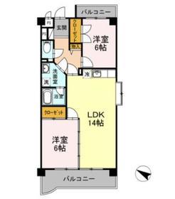 マンションビスタリカ3階Fの間取り画像