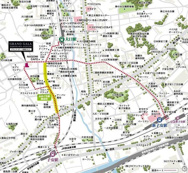 グランド・ガーラ横浜大口案内図