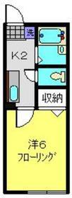 シティハイムホソノA1階Fの間取り画像