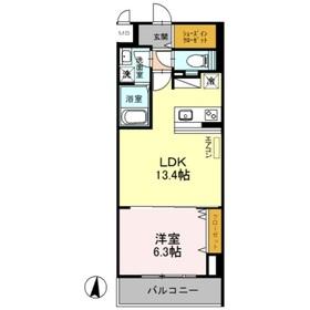 サニーコート トキワ3階Fの間取り画像