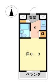 ジョイフル名古屋駅前8階Fの間取り画像
