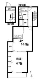 ソレイユ四谷1-2階Fの間取り画像