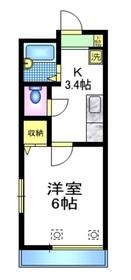 ヴェステンハイム1階Fの間取り画像