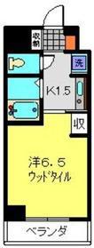 ヴァンテベール5階Fの間取り画像
