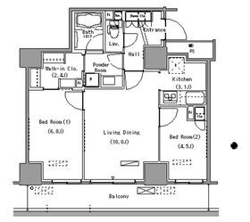 パークアクシス豊洲10階Fの間取り画像