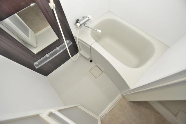 ハーモニーテラス西堤楠町 ちょうどいいサイズのお風呂です。お掃除も楽にできますよ。