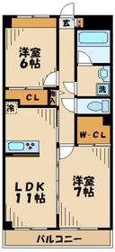 ラピュール1階Fの間取り画像