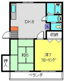 suiunⅡ2階Fの間取り画像
