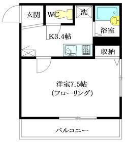 Maison Kimoto3階Fの間取り画像