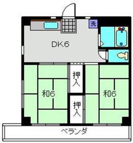 タイコー19573階Fの間取り画像