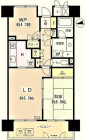 京王多摩川駅 徒歩20分4階Fの間取り画像