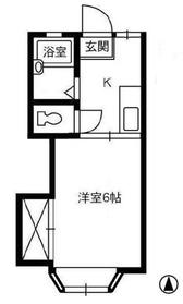 アルパーク212階Fの間取り画像