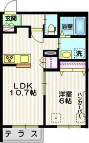 レジデンス S&Y1階Fの間取り画像