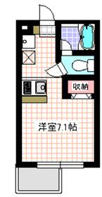 プラチナルームNARIMASU3階Fの間取り画像
