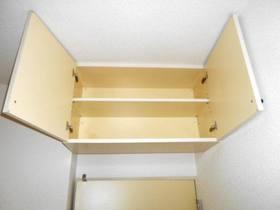 4.8帖洋室の上部収納棚