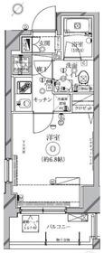 クレイシア新横浜10階Fの間取り画像