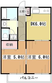 エスポワール2階Fの間取り画像