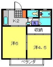 イーストヒル2階Fの間取り画像