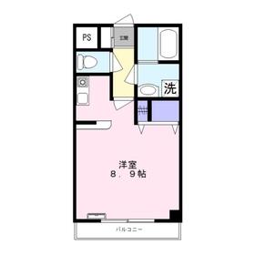 サンライズ・ヒル2階Fの間取り画像