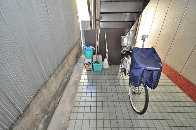 ハイツコスモ あなたの大事な自転車も安心してとめることができますね。