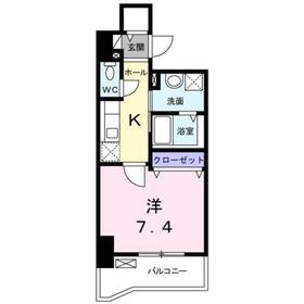 TS レガシア7階Fの間取り画像