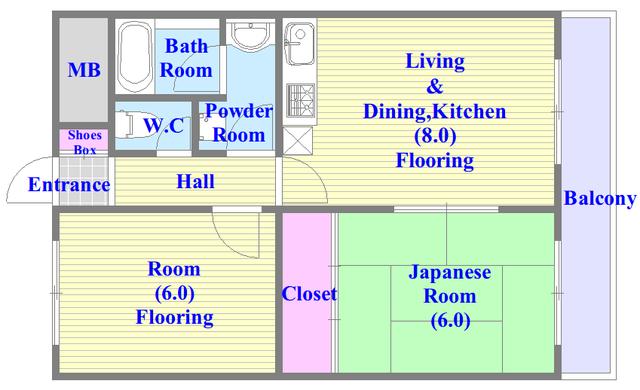 オルゴグラート長田 シンプルな住み心地を実感できる素敵な間取りになってます。