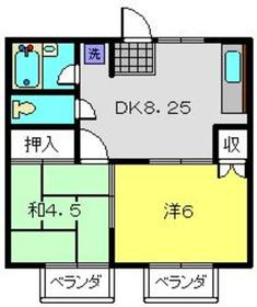 アドバンス62階Fの間取り画像